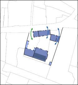 Proposition 2, création de deux porches d'accès